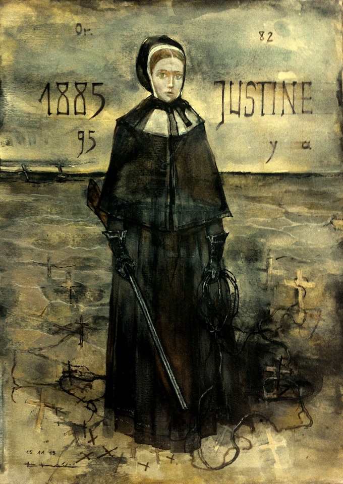 Sister Justine (1885-1895)  Handy with a whip.