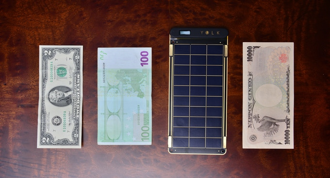 Solar Paper with currencies from several countries.