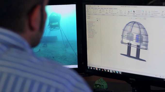 Gabriele, R&D Engineer from our SAFETY engineering dept. working on Biosphere 3's design