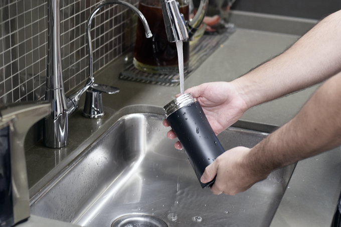 h2x is a stainless steel cup that is insulated for hot or cold beverages, without any condensation.  h2x has a wide, stainless-steel mouth allowing for easy drinking and easy cleaning.