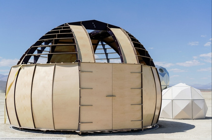 The Macro Dome housing our telescope on playa