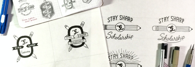 Stay Sharp Logo by Scotty Russell