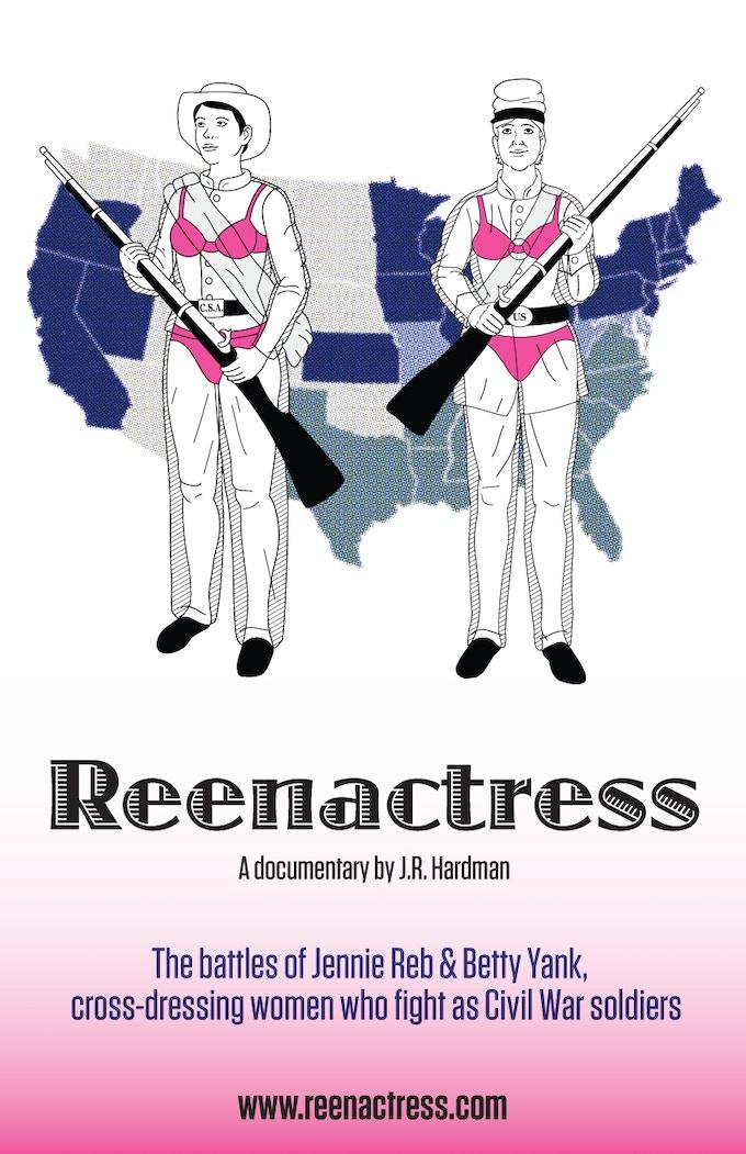 Reenactress poster designed by Rachel De Urioste