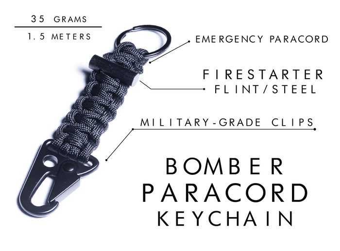 Firestarter Paracord Bracelet / Keychain   Survival Gear