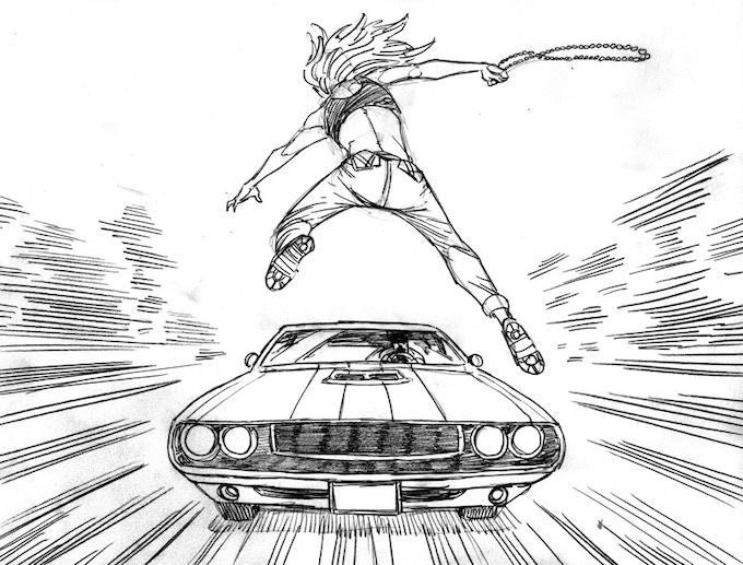WARRIOR NUN:  Car Chase 4/9