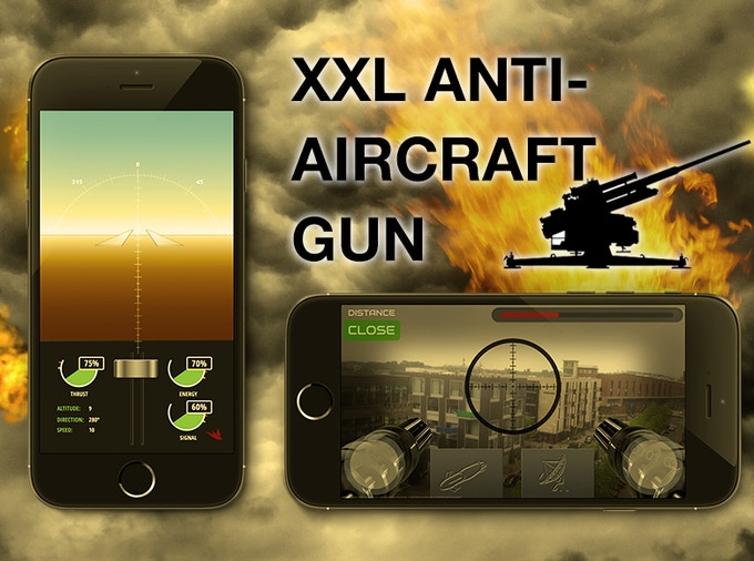 tobyrich.red app: main control screen (left), anti-aircraft battle mode (right)
