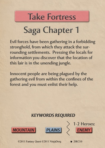 Complete your Saga by collecting highlighted Keywords