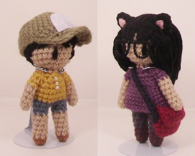 Prototypes of the adorable limited edition crochet dolls, now available in the $200 Early Bird reward!