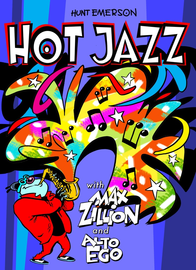Cover of the book shop edition of HOT JAZZ. Your Kickstarter version will have a different cover.