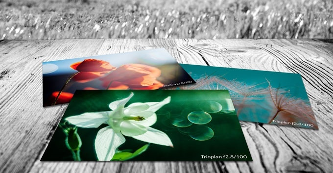 Set of three postcards