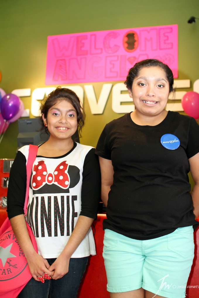 Make A Wish Foundation - Angela and her sister at Converse Inc. at the San Marcos Premium Outlets