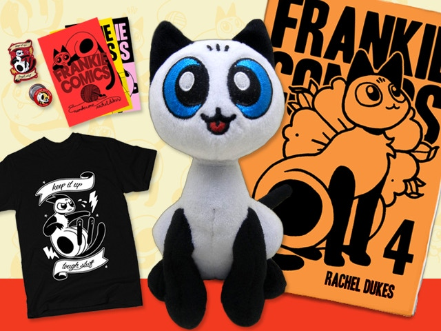 Printing Frankie Comics #4 and creating a limited run of hand-made plush Frankie dolls.
