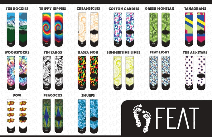 Our new line of socks to choose from!