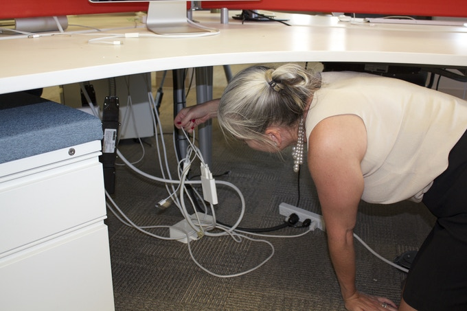 Never Crawl Under Your Desk Again