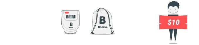$10 - A Boocla pedometer and training bag