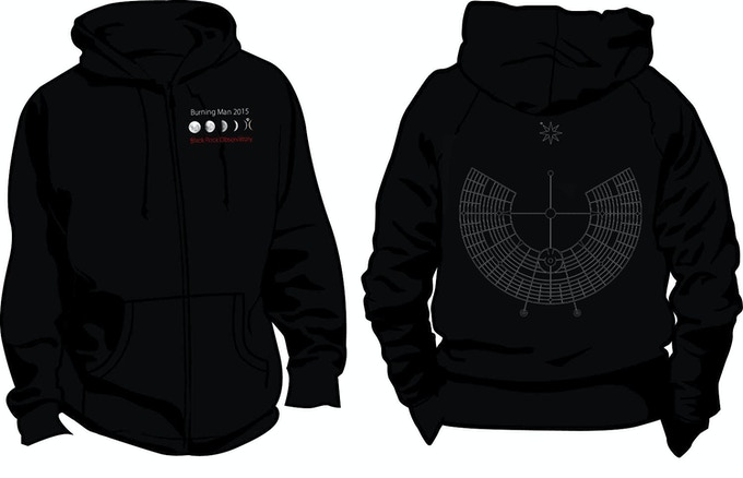 $150 Reward - Black Rock Observatory Zipper Hoodie in Event Horizon Black