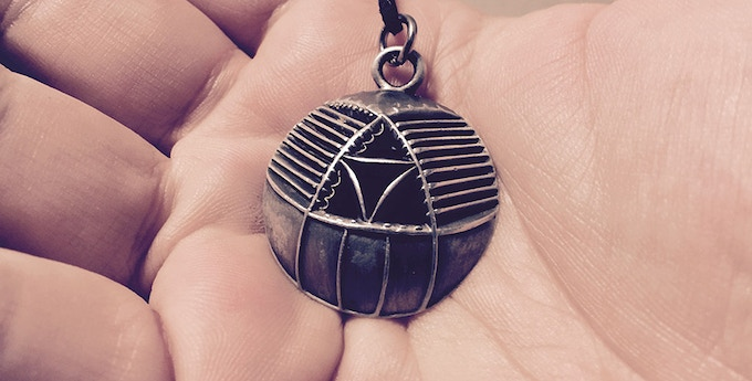 $100 Reward - a Black Rock Observatory Pewter Pendant based on our Dome #2 (Macro Dome) in Mercury Regolith Pewter Finish (our Dome#1 pendant from 2014 pictured above)