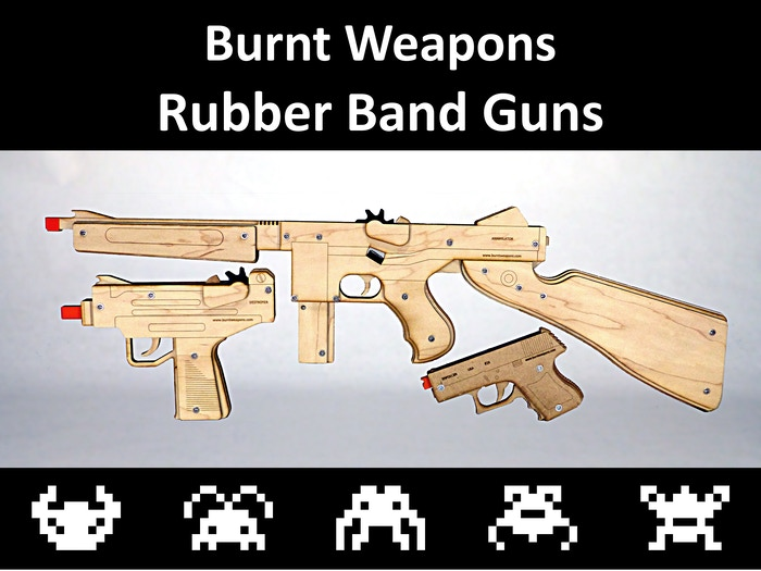 Semi-Auto, Full-Auto, and Select Fire laser cut wooden toys!