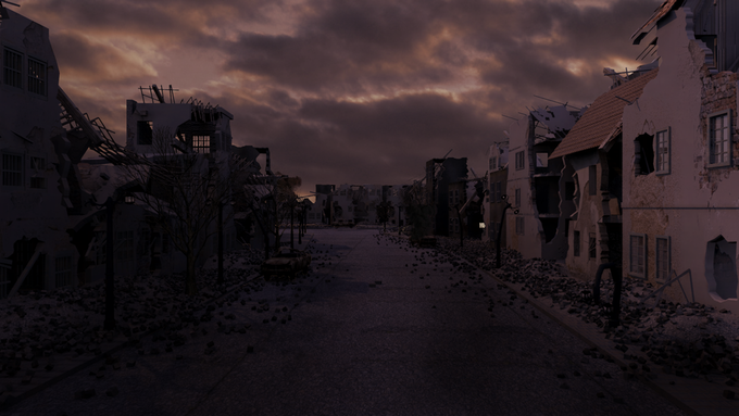 Test render in early stages of trailer production