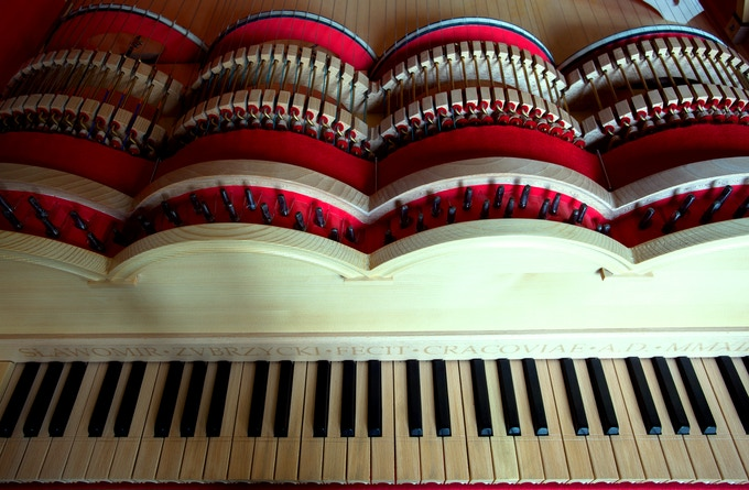 Viola Organista - keys and bows