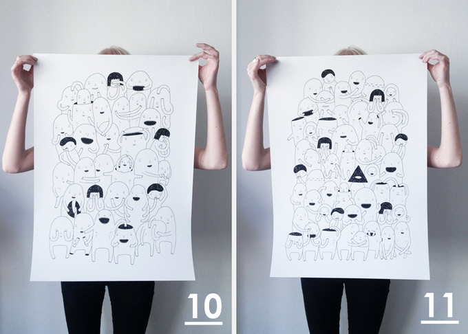 "Store prints (50 x 70cm): ""Random people #1"" & ""Random people #2"""