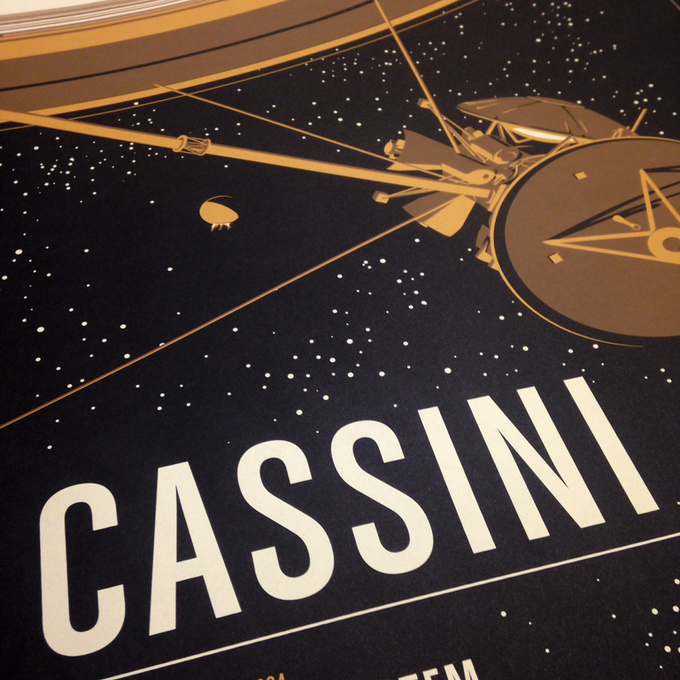 Actual screen printed Cassini poster