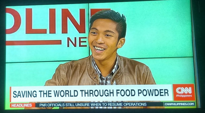 FoPo Food Powder co-founder Gerald Marin at CNN Philippines interview!