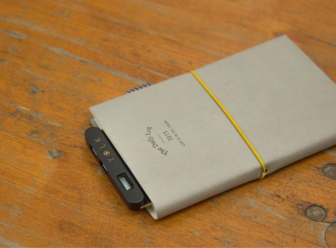 Slip Solar Paper inside a notebook or planner