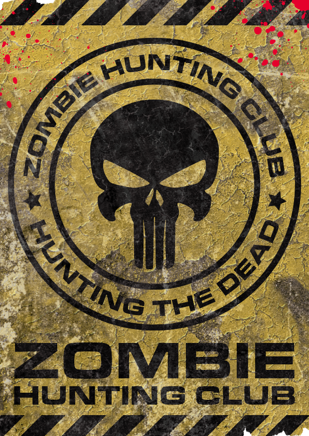 Zombie Hunting Club Personalised Tags By Zombie Inc