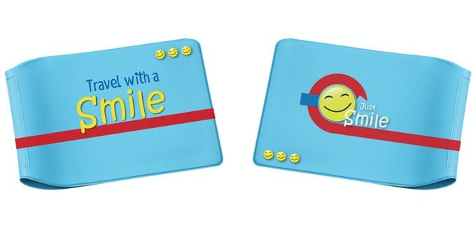 'Just Smile' Limited Edition Blue Oyster Card Wallet