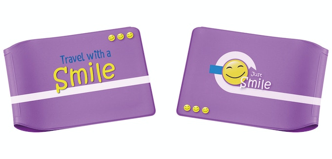 'Just Smile' Limited Edition Purple Oyster Card Wallet