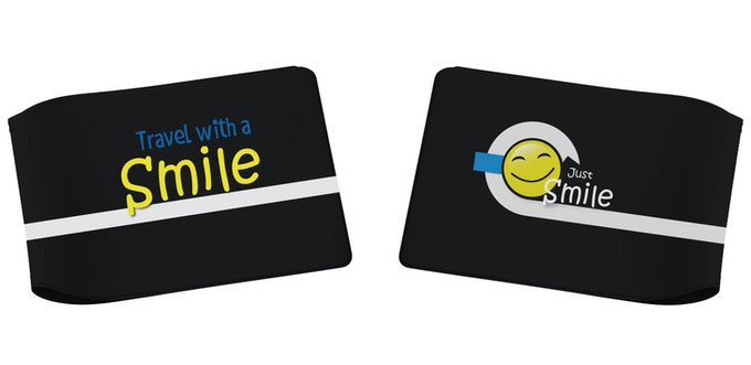 'Just Smile' Limited Edition Black Oyster Card Wallet