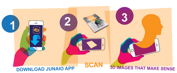 Instruction for testing a AR prototype with Anatomy For Sculptors book