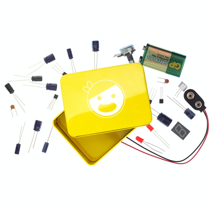 Start learning electronics right in front of your laptop with our simple and easy website + Pirates Electronics Kit.