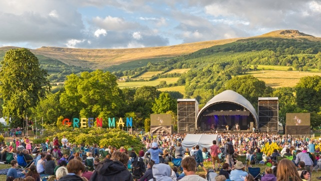 Green man festival, in the heart of the Brecon Beacons, where we will hold our first official Bug Banquet (photo from visitwales.com)