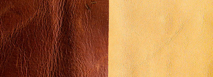 For the leather you can choose (I) light brown, (II) dark brown or (III) black.