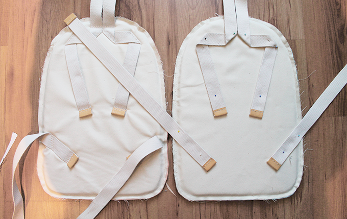 Crafting the back with foam and durable shoulderstraps