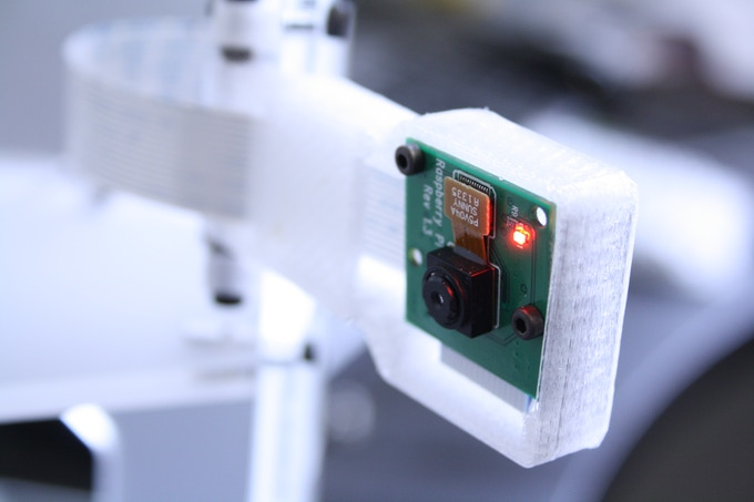 The 5-MegaPixel Camera is mounted to a movable arm on the side of the BigBox.