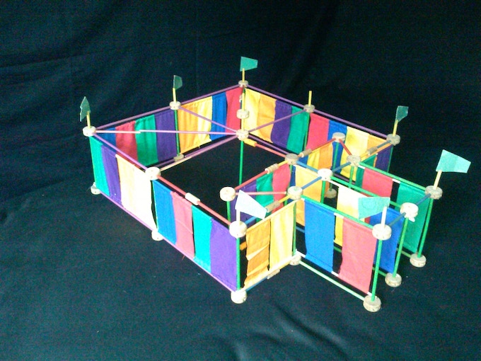 Scale model of the full new True Reflection Palace (complete with flags!)