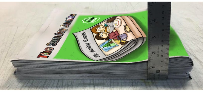 This is The Sunday Comics Newspaper (not the final cover) - Courtesy of our Printer