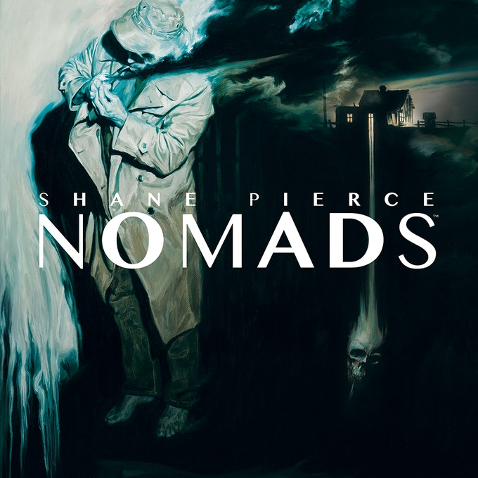 """""""NOMADS""""  book cover by Shane Pierce"""