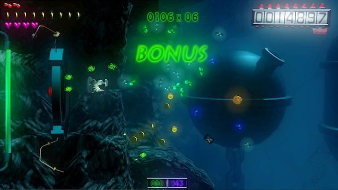 Calculation of the bonuses at the end of the levels