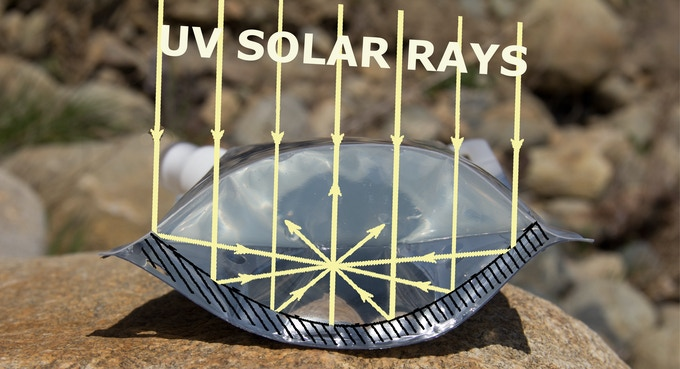 Reflective Back for Solar Energy Collection