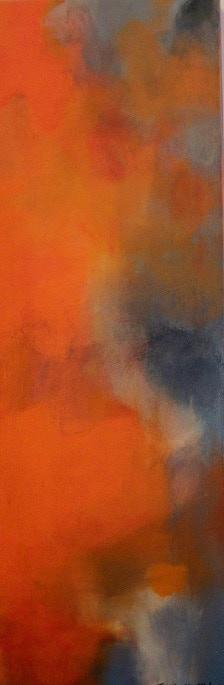 What an Orange Day by Jennifer Stufflebeam, 36x12, acrylic on canvas