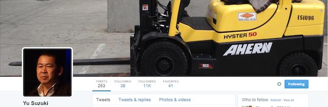 Yu Suzuki Tweets Forklift