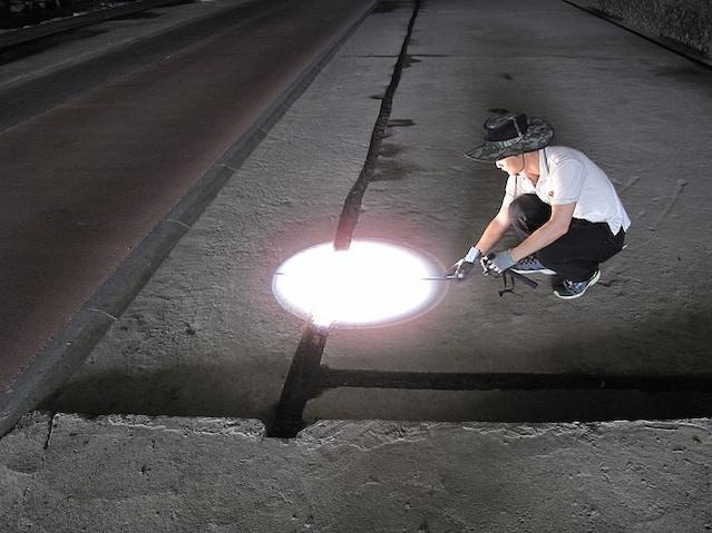 Measuring sunlight distributed underground!