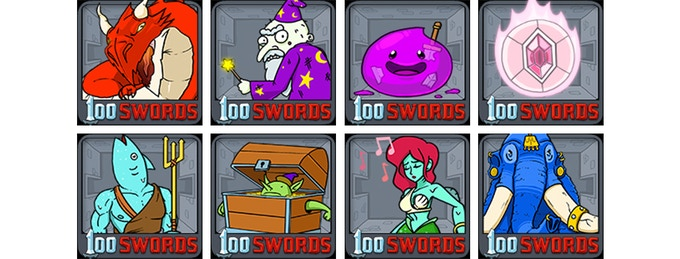 Click the picture to download a bunch of 100 Swords avatars!