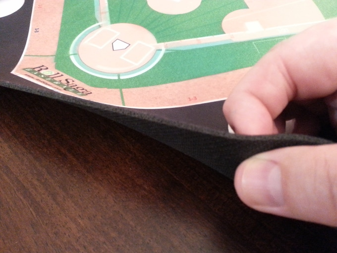 Game mats are made high quality rubber backing material with polyester faces.
