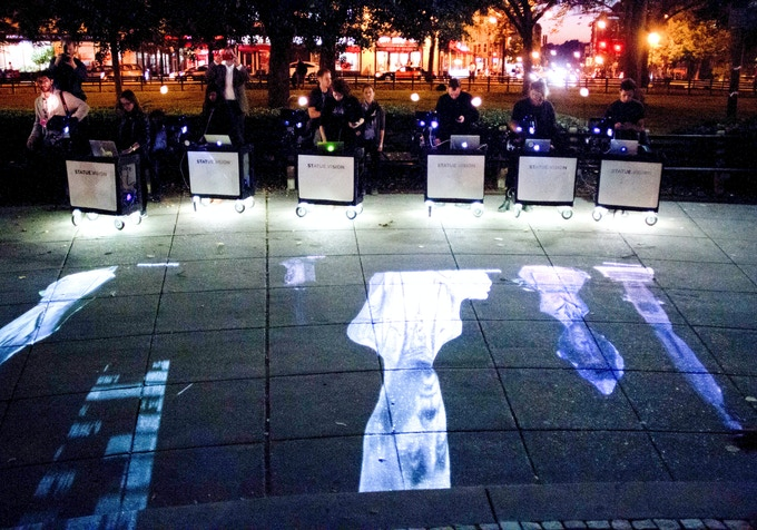 Mobile Projection Carts from Statuevision by Ali Momeni