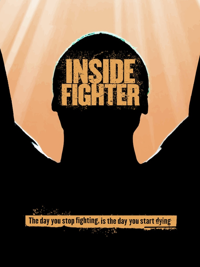 """""""The day you stop fighting is the day you start dying.""""--Feature film starring Jon Huertas, Frank Wood, Anthony Mangano, Siobhan Fallon, Rudy Reyes and Chance Kelly."""